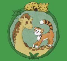 Cute Jungle Friends One Piece - Short Sleeve