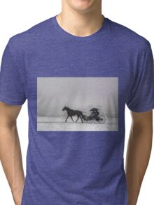 Romantic Buggy Ride In The Snow Tri-blend T-Shirt