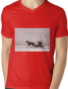 Romantic Buggy Ride In The Snow Mens V-Neck T-Shirt