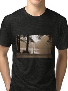 Bayou Meto In Sepia Tri-blend T-Shirt