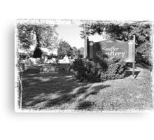 """Snuffer Cemetery in October""... prints and products Canvas Print"