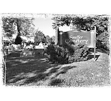"""Snuffer Cemetery in October""... prints and products Photographic Print"
