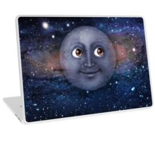 The moon in space Laptop Skin