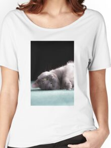 Playful Korat Kitty 001 Women's Relaxed Fit T-Shirt