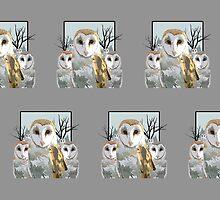 Barn Owl Pack (Pattern 2) by Adamzworld