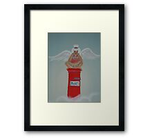 Postbox Angel Framed Print