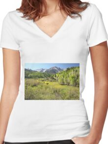 Spring Greens Women's Fitted V-Neck T-Shirt