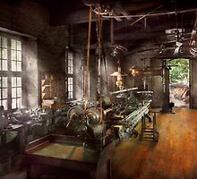 Machinist - Lathe - A long lathe by Mike  Savad