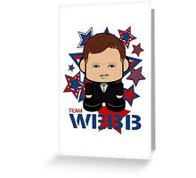 Team Webb Politico'bot Toy Robot Greeting Card