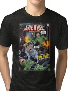 SheVibe Presents - Tantus in 007 Inches: The Uncut Protocol Cover Art Tri-blend T-Shirt