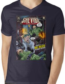SheVibe Presents - Tantus in 007 Inches: The Uncut Protocol Cover Art Mens V-Neck T-Shirt