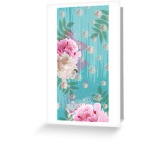 Vintage Peonies Greeting Card