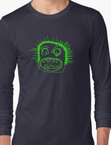 Portrait - lime Long Sleeve T-Shirt