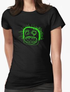 Portrait - lime Womens Fitted T-Shirt