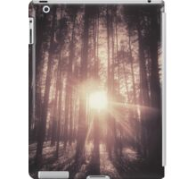 Sunset in the forest iPad Case/Skin