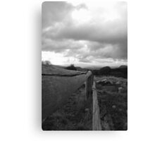 fence, high country Victoria. Canvas Print