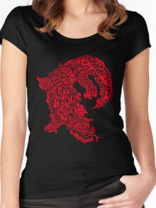 Doodle Dragon (Red) Women's Fitted Scoop T-Shirt