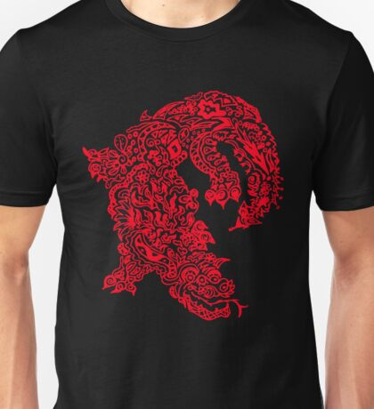 Doodle Dragon (Red) T-Shirt