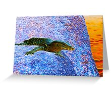 Water Dragon Surreal Greeting Card