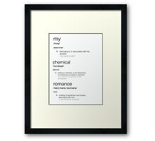 my chemical romance defined Framed Print