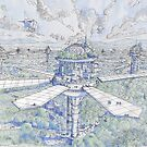 The Solar City by Luca Massone  disegni