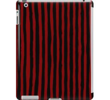 Red and Black Ink Stripes iPad Case/Skin