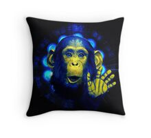 Monkey in the light Throw Pillow