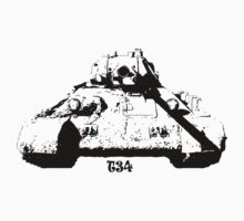 The famous Soviet tank T-34 One Piece - Short Sleeve