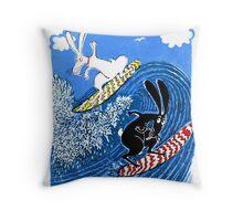 Beach Bunnies Throw Pillow