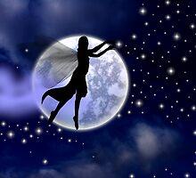 Moonlight Fairy Silhouette by R. Fyfe