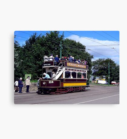 Old Tram at Beamish Museum Canvas Print