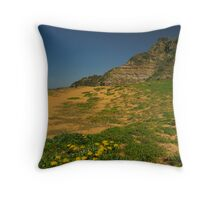 Dunes & Blooms Throw Pillow