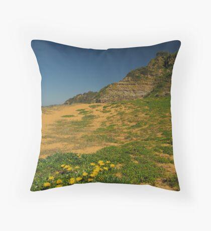 Dunes & Blooms Throw Pillow