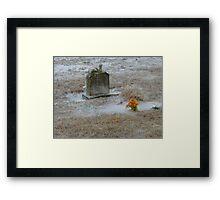 Cold Cemetery Framed Print