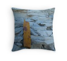 Against the Grain Throw Pillow