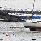 Boats at low tide  by Kirsty Auld