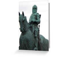 Robert The Bruce Memorial Statue Greeting Card