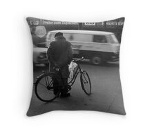 Waiting To Cross Throw Pillow
