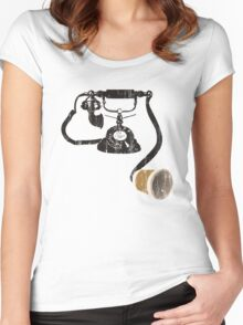 MY NEW TELEPHONE Women's Fitted Scoop T-Shirt