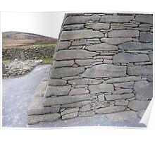 Gallarus Oratory, detail of stonework Poster