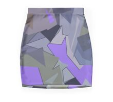 Abstract Flowers (sage, purple, blue) Pencil Skirt