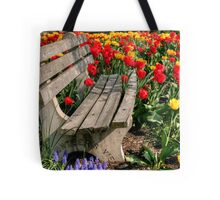 Abducted Park Bench Tote Bag