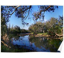 """Tranquil waters - Mungabarina Reserve Albury"" Poster"