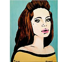 Video Games Girl - Original Painting (Scanned) Photographic Print