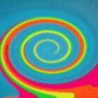 Glass Twirl Rainbow  by Dawnsuzanne