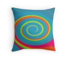 Glass Twirl Rainbow  Throw Pillow