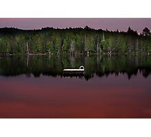 Wilson Lake sunset Photographic Print