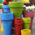 Garden Center Pots by Joan Harrison