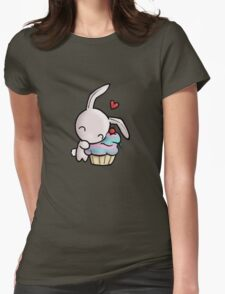 Cupcake Bunny Womens Fitted T-Shirt