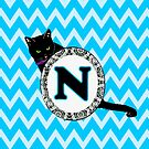 N Cat Chevron Monogram by gretzky